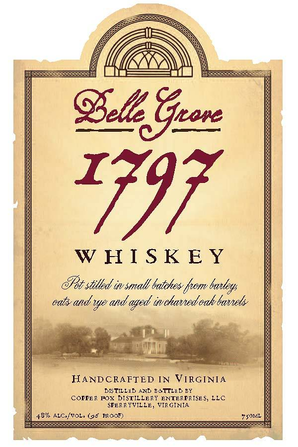 Belle Grove 1797 Whiskey and Spirits