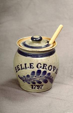 1797 Belle Grove Ceramic Honey Jar